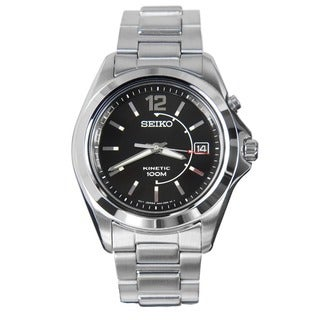 Seiko SKA477 Men's Stainless Steel Kinetic Watch