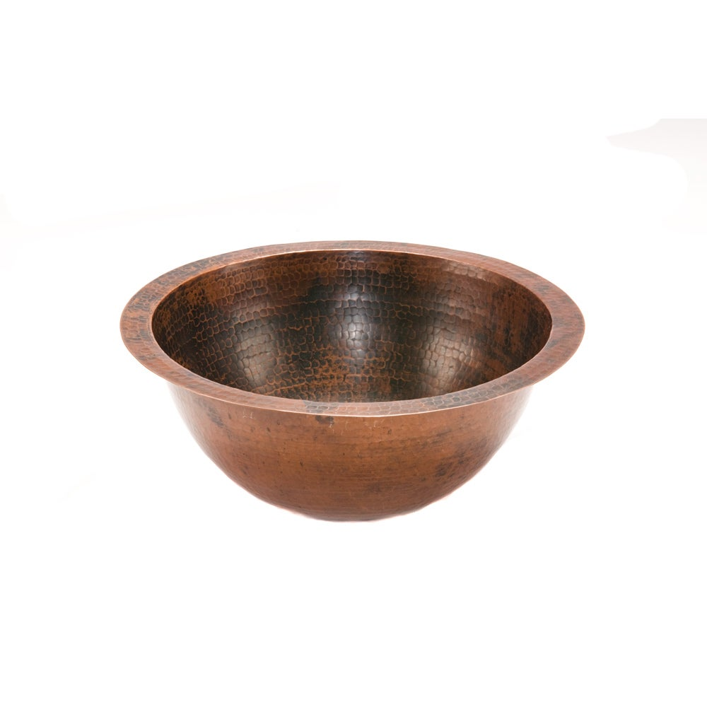 Small Round Oil Rubbed Bronze Copper Undercounter Bathroom Sink