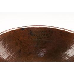 Oval Self Rimming Hammered Copper Drop-in Bathroom Sink