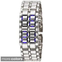 Men's Stainless Steel Lava LED Digital Bracelet Watch
