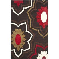 Safavieh Handmade Memories Brown New Zealand Wool Rug (7'6 x 9'6)
