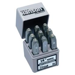 C.H. Hanson Standard Steel Number Stamp Set (1/4 inch)