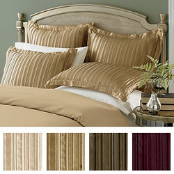 Striped 100-percent Polyester Pleated Satin Euro Sham (26' x 26')