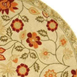 Safavieh Hand-hooked Eden Ivory Wool Rug (5'6 Round)