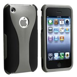 INSTEN Grey/ Black Cup Shape Snap-on Phone Case Cover for Apple iPhone 3G/ 3GS