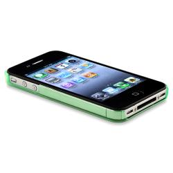 INSTEN Clear Green Snap-on Slim-fit Phone Case Cover for Apple iPhone 4/ 4S