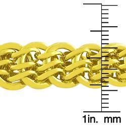 Fremada Gold over Sterling Silver Designer Link Bracelet