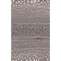 Hand-tufted Metropolitan Stones Silver Wool Rug (8' x 10')