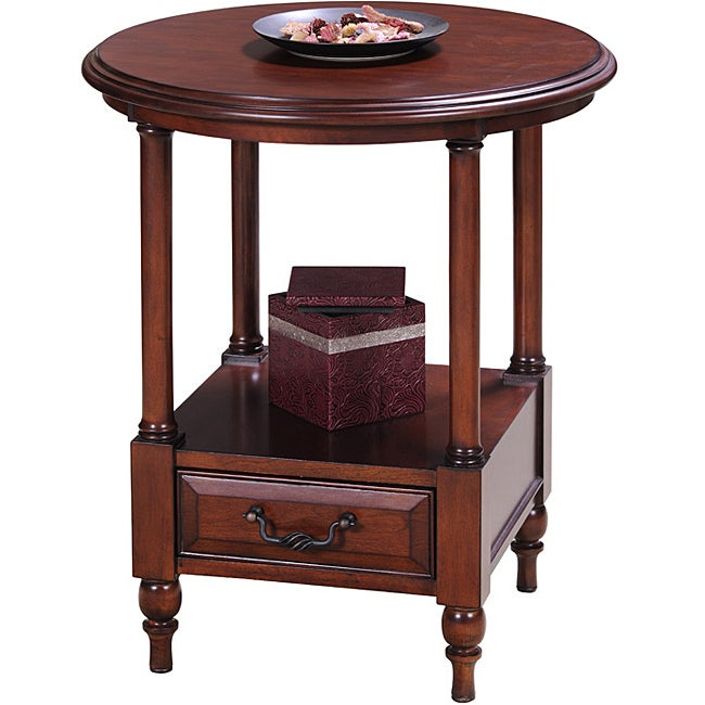 Cherry Round Side Table