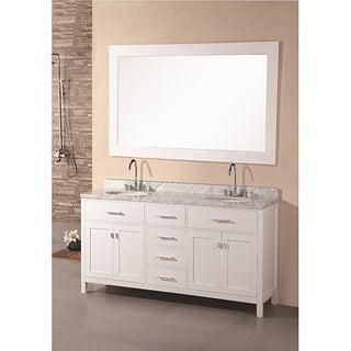 61 70 inches bathroom vanities overstock shopping for Design element marcos solid wood double sink bathroom vanity