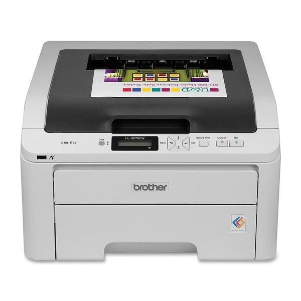 Brother HL-3075CW Laser Printer - Color - 2400 x 600 dpi Print - Plai