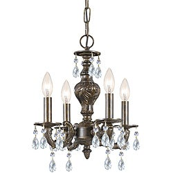 Crystorama Sutton 4-light Venetian Bronze Chandelier