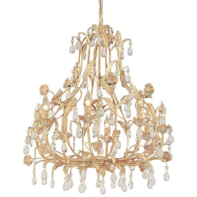 Crystorama Athena 8-light Champagne Crystal Chandelier