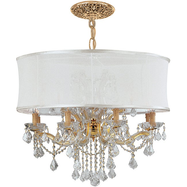 Crystorama Brentwood 12-light Gold Crystal Chandelier
