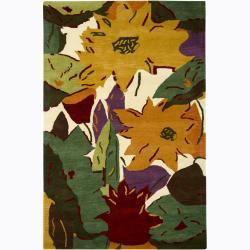 Hand-Tufted Mandara Contemporary Abstract New Zealand Wool Rug (7'9 x 10'6)