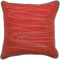 Down Filled 'Rutland' 18-inch Square Decorative Pillow