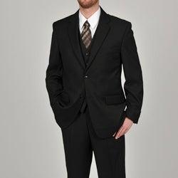 Adolfo Men's Solid Black 2-button Suit Separate Coat