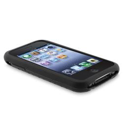 INSTEN Black Tire Tread Soft Silicone Skin Phone Case Cover for Apple iPhone 3G / 3GS