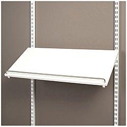 Organized Living freedomRail White Pre-Drilled Shoe Shelf (30 x 14)