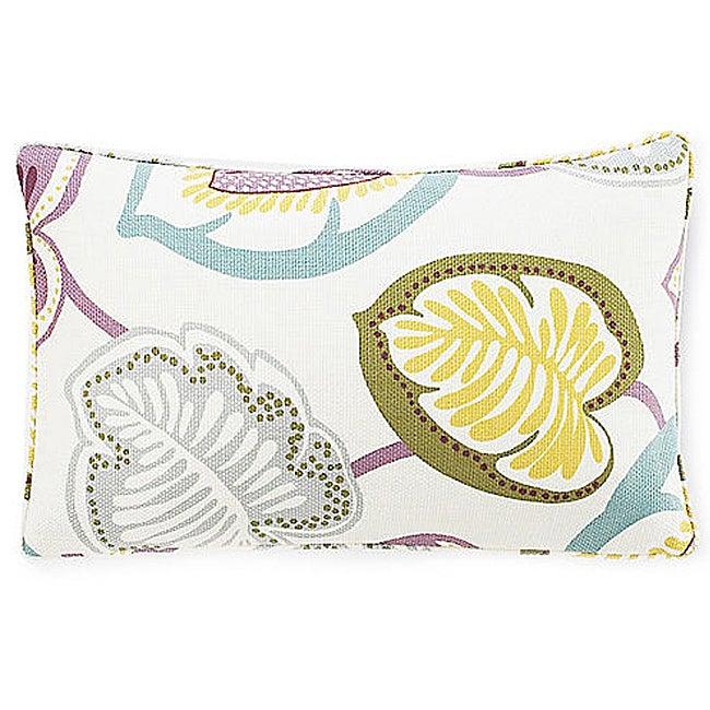 Hosta Lily Alabaster Decorative Pillow