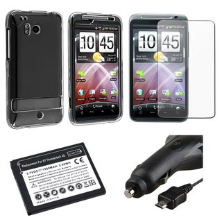 Case/ Screen Protector/ Car Charger/ Battery for HTC Thunderbolt 4G
