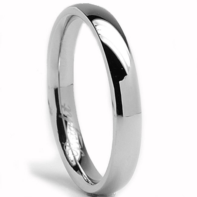 Oliveti Stainless Steel Classic Dome Wedding Band Ring 3 mm Overstock Sho