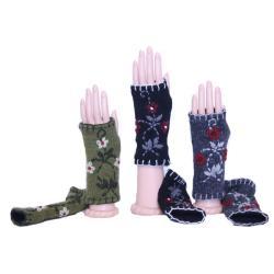 Wool Floral Arm Warmers (Nepal)