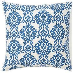 Luminari Blue Cotton Decorative Pillow
