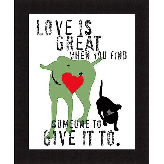 Ginger Oliphant 'Love Is Great' Framed Print