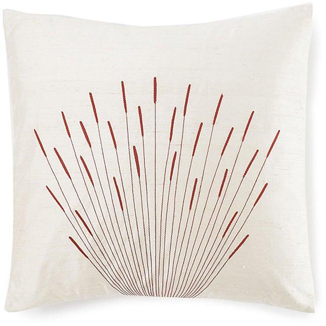 20 x 20-inch Branches Cream Silk Pillow