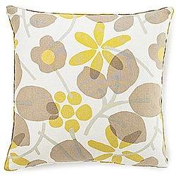 Bethe Leaves Light Brown Decorative Pillow