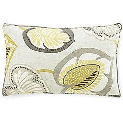12 x 20-inch Hosta Lily Celedon Cotton Decorative Pillow