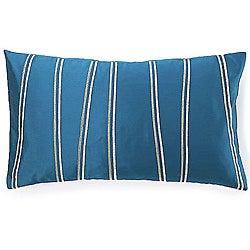Diagonal Blue Decorative Pillow