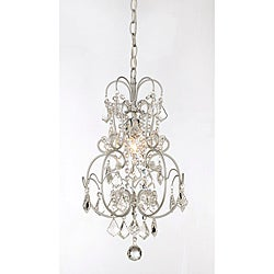 Dainty' Matte Silver and Crystal 1-light Chandelier