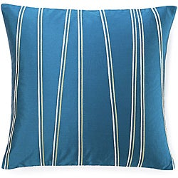 Diagonal Blue 20x20-inch Poly Decorative Pillow