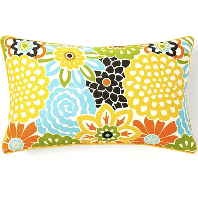 Jiti Bloom Confetti 12 x 20-inch Cotton Decorative Down Pillow