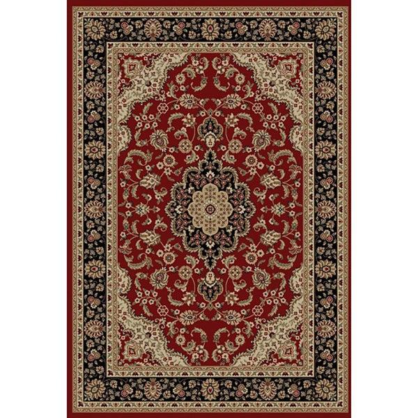 'Medallion Kashan' Red Area Rug (5'3 x 7'3)