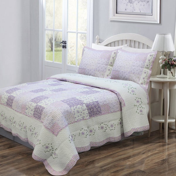Love of Lilac 3-piece Quilt Set and Optional Sham Separates