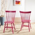 Country Lifestyle Spindle Back Raspberry Dining Chair (Set of 2)