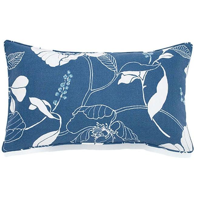 Poppy Blue 12x20-inch Outdoor Pillow