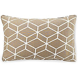 Bethe Tile Light Brown 12x20-inch Linen Decorative Pillow