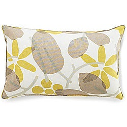 Jiti Bethe Leaves Light Brown 12x20-inch Decorative Down Pillow