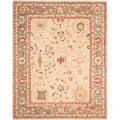 Safavieh Hand-made Oushak Beige/ Green Hand-spun Wool Rug (9' x 12')