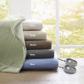 Beautyrest Ribbed Microfleece Queen-size Heated Blanket