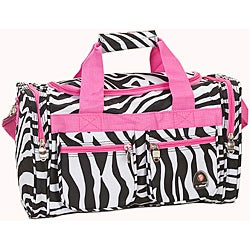 Rockland Deluxe Pink Zebra 19-inch Carry-On Tote/Duffel Bag