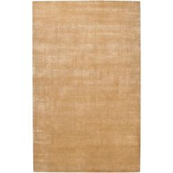 Julie Cohn Hand Knotted Armour Abstract Design Wool Rug (8' x 11')