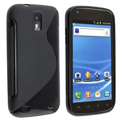 INSTEN Black S Shape TPU Rubber Skin Phone Case Cover for T-Mobile Samsung Galaxy S2 T989