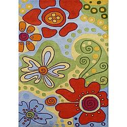 Alliyah Handmade Kids Multicolored New Zealand Blend Wool Rug (4' x 6')
