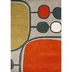 Alliyah Handmade Aluminum New Zealand Blend Wool Rug (5' x 8')