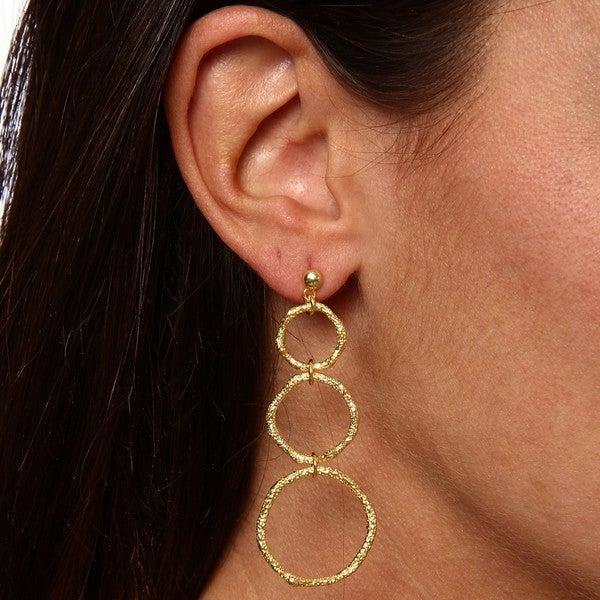 Gold over Sterling Silver Circle Earrings